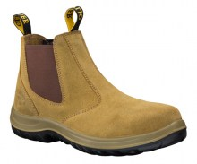 Beige Elastic Sided Boot