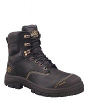 150MM Black Leather Boot